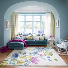 Tetbury Meadow Rug - Rugs - Living | bluebellgray