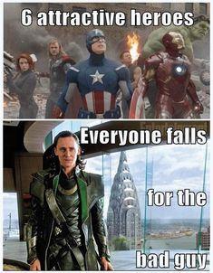 My screen is melting. That's how hot Loki is. <<< Soeh, truth here is that I'm not entirely devoted to Loki, though Tom Hiddleston as Loki is sure to be my favourite for all it's worth. Tom Hiddleston in general is just amazing. The Avengers, Marvel Avengers, Marvel Jokes, Humour Avengers, Films Marvel, Funny Marvel Memes, Dc Memes, Marvel Dc Comics, Funny Memes