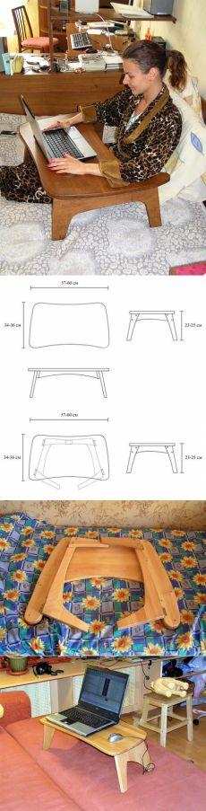 Столик для ноутбука. 4 варианта от Сергея Сергелина.