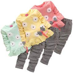 Flower Plaid Clothing Set [6M-5T] 24.99 CAD Maternity Swimsuit, Maternity Pants, Maternity Tops, Maternity Dresses, Shirt Bag, Plaid Outfits, Skirt Leggings, Shoes Heels Wedges, Baseball Shirts