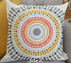 Cutting Edge Stencils shares how to create the perfect accent pillow to match your decor using the Funky Wheel Paint-A-Pillow kit. Accent Pillows, Throw Pillows, Stencil Decor, Cutting Edge Stencils, Perfect Pillow, Sweet Home, Campaign, Kit, Sewing