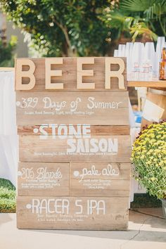 A chic California wedding with a craft beer theme and lots of design by the groom. Craft Beer Wedding, Brewery Wedding, Diy Wedding Favors, Wedding Blog, Fall Wedding, Dream Wedding, Drink Bar, Willow Tree Wedding, Beer Signs