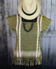 Gold & Black Zinacantan Huipil Hand Woven Mayan Chiapas Mexico Hippie Cowgirl #Handmade #Huipil
