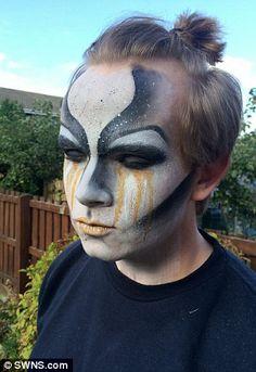 Spooky: Belinda shows off an otherworldly design