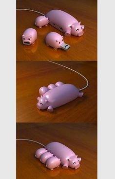 Pig usb drive and hub! Lol