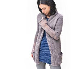 BeauB Cardigan, by La Maison Rililie Designs Frou Frou, Couture, Crochet Clothes, Knitting Projects, Knit Cardigan, Knit Crochet, Knitting Patterns, Cardigans, Sweaters