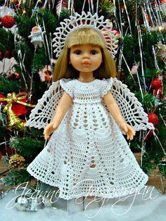 Жанна Гаспарян Crochet Doll Clothes, Knitted Dolls, Doll Clothes Patterns, Crochet Dolls, Clothing Patterns, Crochet Hats, Ropa American Girl, Clothes Crafts, Vintage Dolls