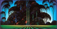 Forest Bouquet - Eyvind Earle - WikiPaintings.org
