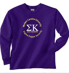 66c518bb19c5 Western Carolina University Sigma Kappa Homecoming Reunion TShirt 2012.