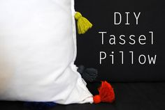 1- DIY Tassel Pillow