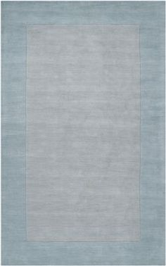 Surya Mystique M 305 Solid Border Rug In Light Blue Great Accent