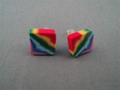 RAINBOW POLYMER CLAY EARRINGS