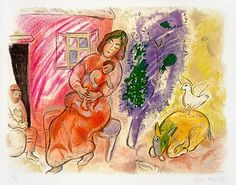 (Maternity), 1954 a color lithograph by Marc Chagall at Masterworks Fine art.