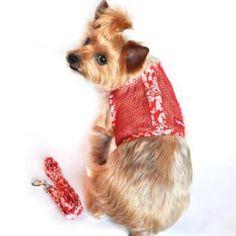 Cool Mesh Harness Hawaiian Hibiscus - Red Dog Harness
