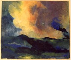 """The Sea (w/c)"" by Emil Nolde"