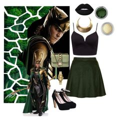 """""""Loki Inspired // Set #76"""" by sammisolace ❤ liked on Polyvore featuring Sister Jane, Forever New, Nixon, Valentino, Lime Crime and Christian Dior"""