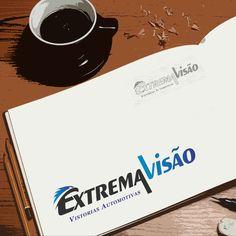 Criação de logotipo para Extrema Visão Vistorias Automotivas por Foco Design & Gráfica.