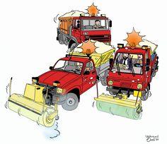 IJsbrand Oost - Strips en illustraties: Voertuigen