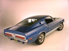The 1967 Shelby Mustangs used Mercury Cougar tail lamps, but the 1968 models used lamps from the Ford Thunderbird dennfo-cars Ford Mustang Shelby Gt500, Mustang Cars, 1968 Mustang, Ford Mustangs, Ford Shelby, Best Muscle Cars, American Muscle Cars, Ford Thunderbird, Ford Classic Cars