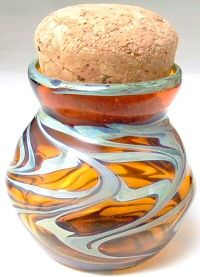 glass inkwell...looks like a stash jar