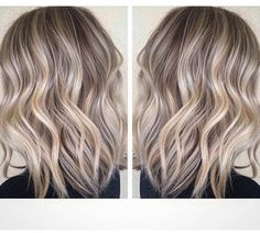 Vanilla cream - ash blonde lowlights