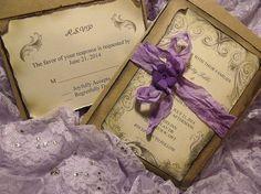 Lavender / purple Wedding Invitation Suite/ Vintage by cuteNtrendy, $4.75