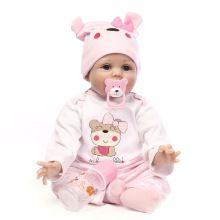 b39fa2f1b Silicona suave vinilo 55 cm bebé Reborn muñeca apaciguar moda realista  Reborn muñecas jugar casa juguete