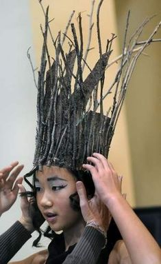 Sometimes the simple approach is best, like this tree headdress.