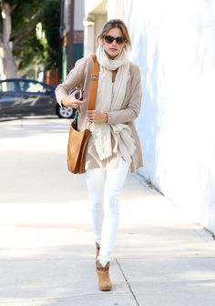 Celebrity Street Style - Alessandra Ambrosio Bundles Up In Nudes ...