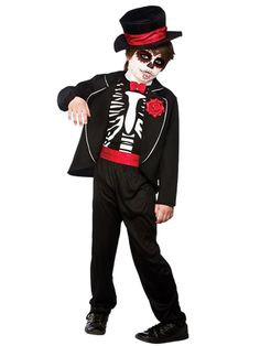 Day of the Dead Zombie - Child Costume front