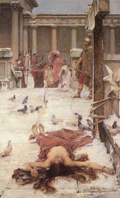 'Saint Eulalia', John William Waterhouse, exhibited 1885