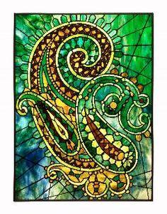 shared via nutiva.com - Erica Rollings: paisley #stained #glass #beauty