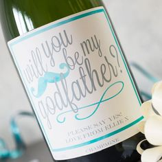 Luxury Personalised Champagne - Will You Be My Godfather?
