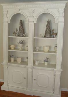 Painted furniture!  Redo. dated bookshelves
