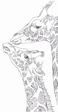 Coloring pages Printable Adult Coloring book Giraffe Clip Art Hand Drawn Original Zentangle Colouring Page For Download, Doodle art Picture  Original