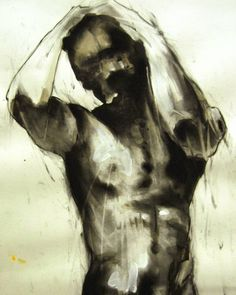 Male torso using ink and charcoal creating a dramatic contrast between light and dark #fineart #drawings #illustration #figurestudy #thebody #nude #ink #charcoal #expressive #shadow #creative #inspiration #art #instaart #artoftheday #picoftheday #artistoninstagram #contemporaryart http://ift.tt/2es9akz