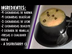Bizcocho de microondas // en menos de 5 minutos - YouTube Mug Cake Microwave, Oatmeal, Pudding, Make It Yourself, Mugs, Breakfast, Desserts, Food, Facebook