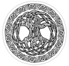 celtic knotwork tree (this matches my tattoo, so it'd be perfect for my wheel)…