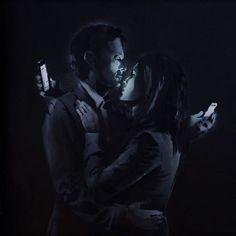 Banksy-brit graffiti művész