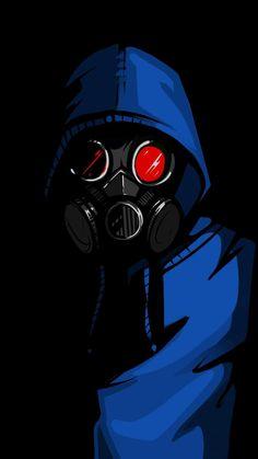 Dark Hoodie Gas Mask - iPhone Wallpapers