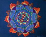 Native American Symbolic Art Framed Prints - Elements  Framed Print by Jamey Balester