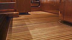 Teak Yacht Floor Galley