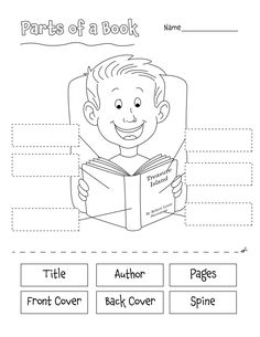 On this page you'll find various Language Arts printables, including creative writing prompts, all about me printables, and various grammar worksheets. Most of these printables were created for elementary school students, parents and teachers. School Library Lessons, Library Lesson Plans, Library Skills, Elementary Library, Library Books, Elementary Schools, Library Ideas, Parts Of A Book, The Book