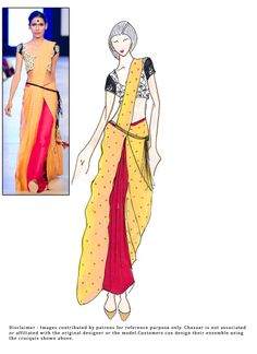 #DIY Yellow And #Pink Shaded Saree
