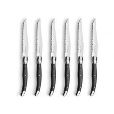 6 Steakmesser Lou Laguiole Antrazit
