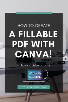 Want to learn how to create a fillable pdf form? Here is a blog post and Video Tutorial to show you how!
