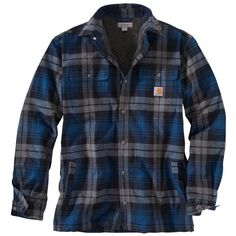 Shop the Carhartt Men's Hubbard Sherpa Lined Shirt Jac, and other Carhartt Jackets. Carhartt Jacket, Winter Shirts, Mens Clothing Styles, Shirt Jacket, Work Wear, Men Casual, Menswear, Mens Fashion, Hoodies