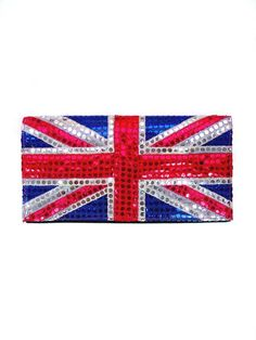 Union Jack Sequin Vivica Clutch by Lostmannequin on Etsy. $25.70, via Etsy.