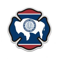 "Maryland Firefighter 4/"" Decal//Sticker Maltese Cross State Flag"