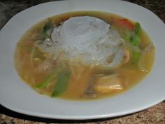 Shawna's Food and Recipe Blog: Vegetable Glass Noodle Soup